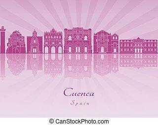 Cuenca skyline in purple radiant orchid
