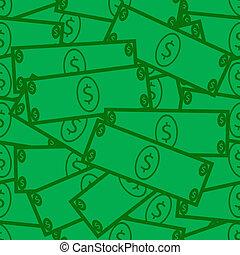 cuenta, dólar, seamless, plano de fondo