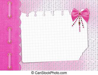 cuentas, felicitación, arco, invitación, o, tarjeta