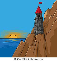 cuento de hadas, torre