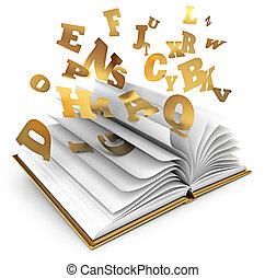 cuento, hada, magia, book.