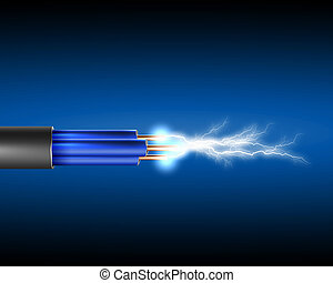 cuerda, electricidad, eléctrico, sparkls
