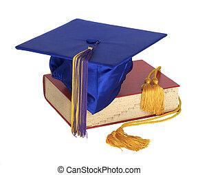 cuerda, sombrero, honor, graduación