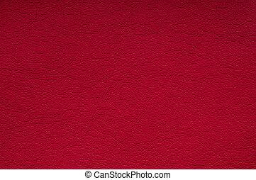 cuero, fondo rojo