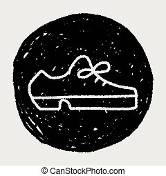 cuero, garabato, zapato