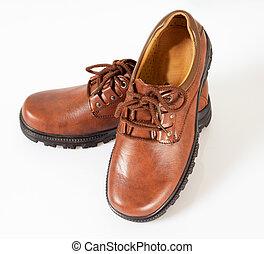 cuero, shoes
