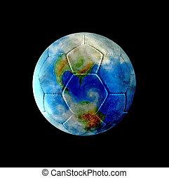 cuero, tierra, fútbol