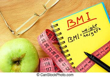 cuerpo, índice, bmi, masa, fórmula