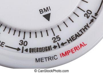 cuerpo, índice, masa