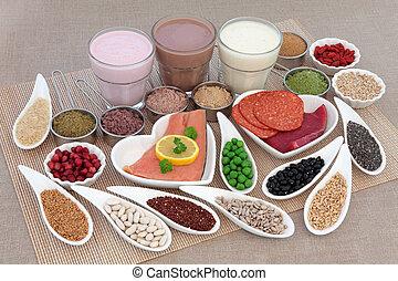 cuerpo, alimento, salud, edificio