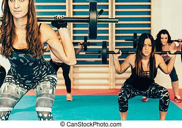 cuerpo, bomba, entrenamiento, condición física