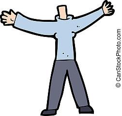cuerpo, poseer, photo), caricatura, sin cabeza, agregar, igual, o, (mix, caricaturas