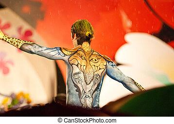 cuerpo, samui, pintura