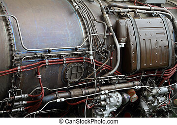 cuerpo, tuberías, eléctrico, avión, motor,  cables