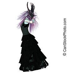 cuervo, dama