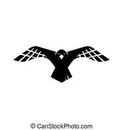 cuervo, vector, cuervo, logotipo, señal, diseño, vuelo, ilustraciones, negro