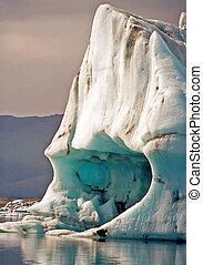 cueva, hielo