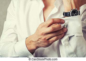 cuff-link , κουμπιά , γαλλίδα , κόλαφος , άντραs