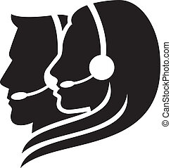 cuffia, simbolo, headset), (women