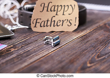 Cufflinks and Father's Day card.