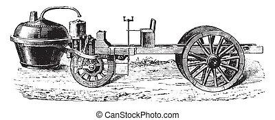 Dampf auto Illustrationen und Clip-Art. 1.355 Dampf auto Lizenzfreie ...