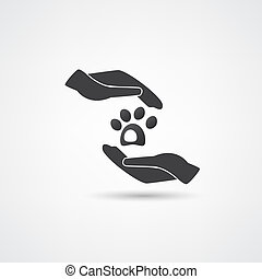 cuidado animal estimação, vetorial