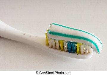 cuidado, cuidados de saúde, objeto, higiene, escova, saúde, escova de dentes