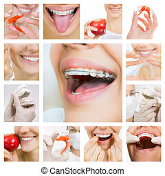 cuidado dental, collage, (dental, services)