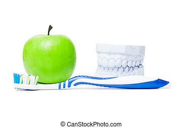 cuidado dental, conceito