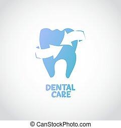 cuidado dental, desenho, conceito