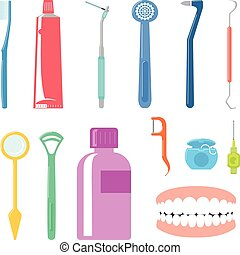 cuidado dental, itens