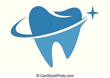 cuidado dental, logotipo, dsign