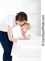 cuidado, madre y bebé
