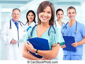 cuidado saúde, doutor médico, woman.
