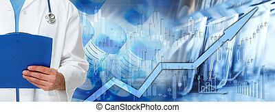 cuidado saúde, mercado conservado estoque, fundo