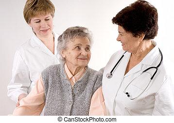 cuidado saúde, trabalhadores