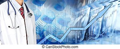 cuidado, salud, mercado, plano de fondo, acción