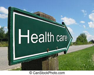 cuidado, salud, muestra del camino