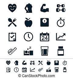 cuidados de saúde, ícones