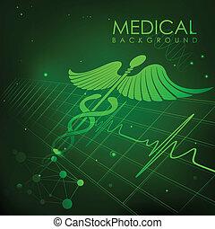 cuidados de saúde, e, médico, fundo