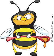 cuillère, abeille