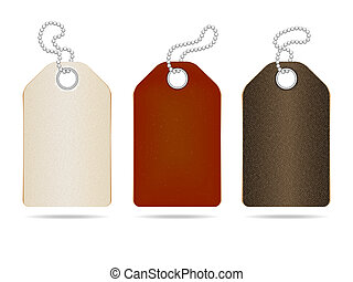 cuir, étiquettes