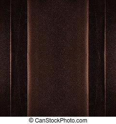 cuir, arrière-plan brun