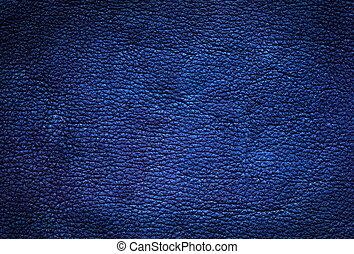 cuir, bleu, arrière-plan.