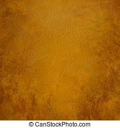 cuir, brun, grunge, fond