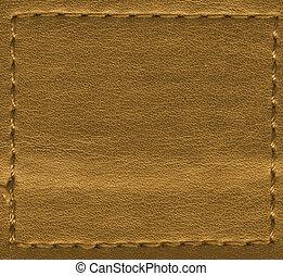 cuir, brun, naturel, texture