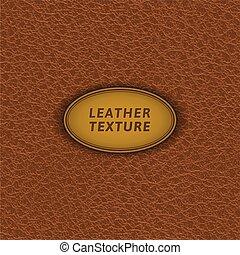 cuir, brun, pattern., seamless