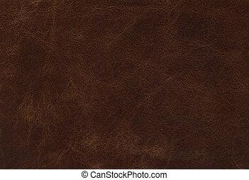cuir, brun, texture