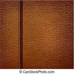 cuir, brun, vecteur, illustration., arrière-plan.