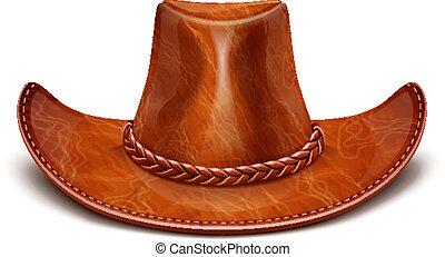 cuir, chapeau stetson, cowboy's
